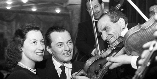 Jávor Pál és felesége, Landessman Olga (MTI Fotó/MAFIRT: Bass Tibor)