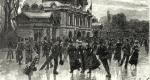 Korcsolyázók a Városligeti Műlyégpályán, 1902