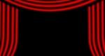 színházi vörös függöny