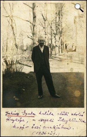 Juhász Gyula, halála előtti utolsó kép, 1936-37