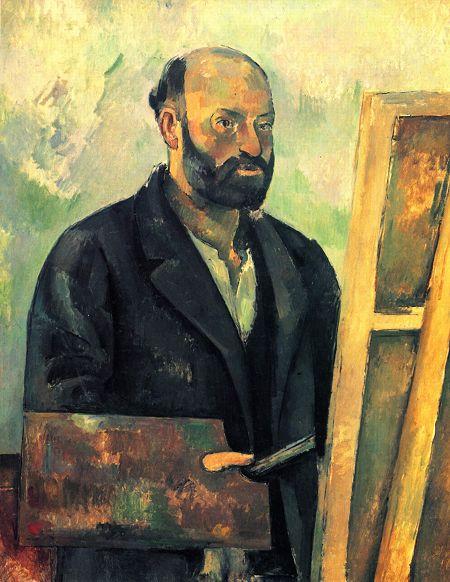 Paul Cézanne, Önarckép palettával, 1890