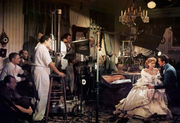 A kaméliás hölgy forgatása, Greta Garbo, George Cukor, Robert Taylor (Forrás: TCM.com)