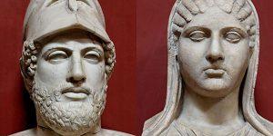 Periklész és Aszpászia, i. e. 430 körüli szobormásolatok