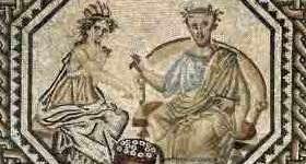 Homérosz és Calliope, római mozaik