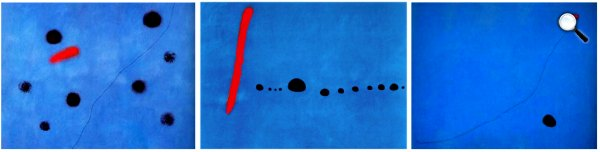 Joan Miró: Kék I.; Kék II.; Kék III., 1961 (Forrás: joanmiro.com)