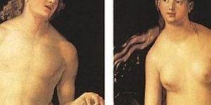 Albrecht Dürer: Ádám és Éva, 1507 (Forrás: Wikipédia)