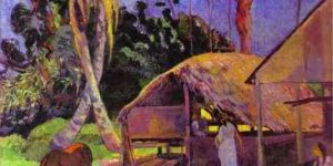 Paul Gauguin: Black pigs, 1891 (Forrás: MNG)