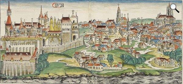 a budai vár Mátyás király korában (fotó: OSZK)