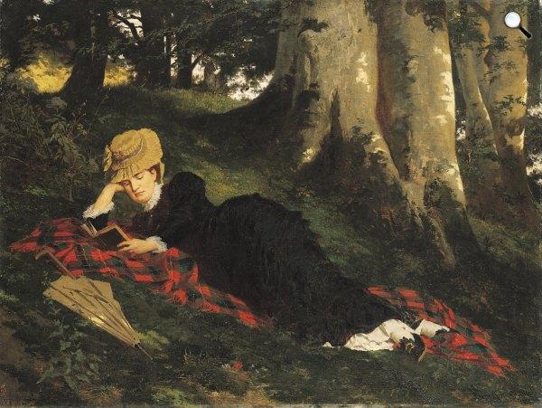 Benczúr Gyula: Olvasó nő, 1875., MNG