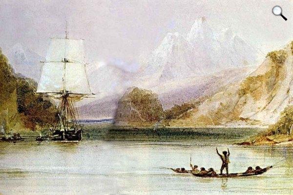 Conrad Martens: HMS Beagly, 1831 (fotó: darwinday.org)