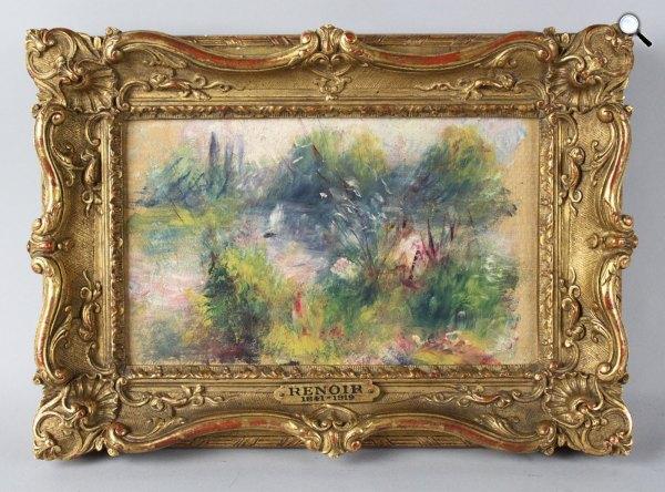 Pierre-Auguste Renoir: Paysage bords de Seine, 1879 (Fotó: The Baltimore Museum of Art)