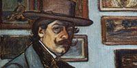 Rippl-Rónai József: Önarckép barna kalapban, 1897 (Fotó: MNG)