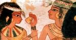 ókori egyiptomi étkezés (Fotó: Wikimédia)