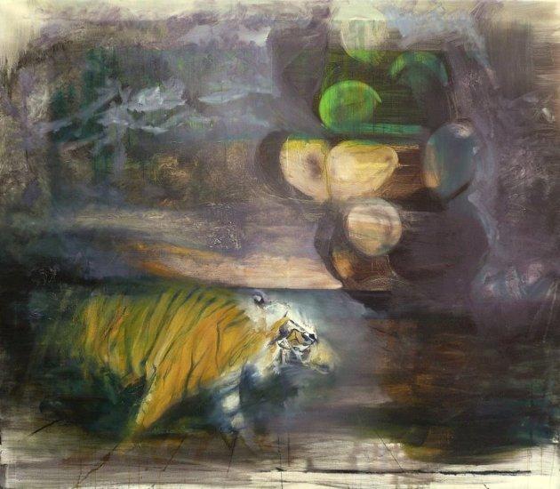 Pinczés József: Tigrisem alvajár, 2012-14, olaj, vászon, 130x150cm