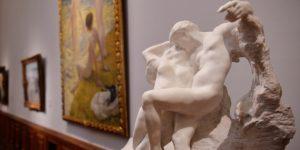 Auguste Rodin: Az örök tavasz, Szépművészeti Múzeum (MTI Fotó: Beliczay László)