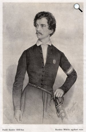 Barabás Miklós: Petőfi Sándor, 1848 (Fotó: PIM)