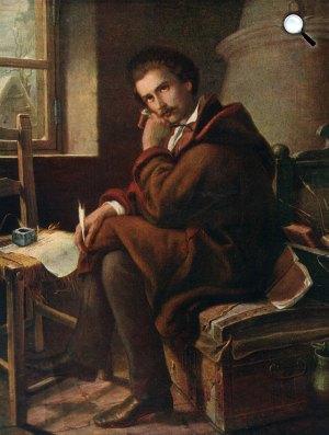 Orlai Petrich Soma: Petőfi Sándor Debrecenben, 1844 (Fotó: Wikipédia)