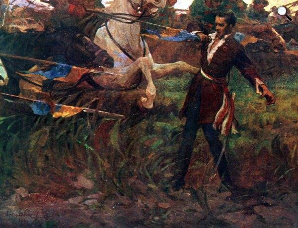 Hegedűs László: Petőfi Sándor halála, 1850 (Fotó: OSZK)