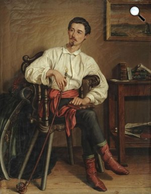 Orlai Petrich Soma: Petőfi legutolsó arcképe, 1849 (Fotó: PIM)