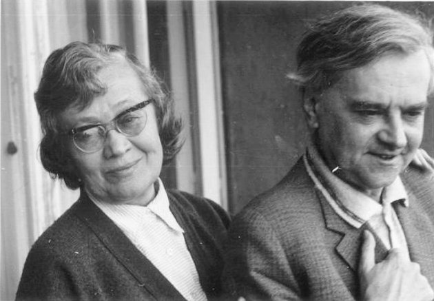 Károlyi Amy és Weöres Sándor (Fotó: OSZK)
