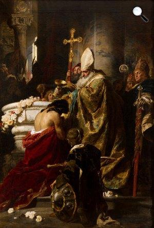 Benczúr Gyula: Vajk megkeresztelése, 1875 (Fotó: Wikimédia)
