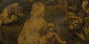 Leonardo-da-Leonardo da Vinci: Háromkirályok imádása (1481-82) (Fotó: Wikimédia--Adorazione-dei-Magi-detail