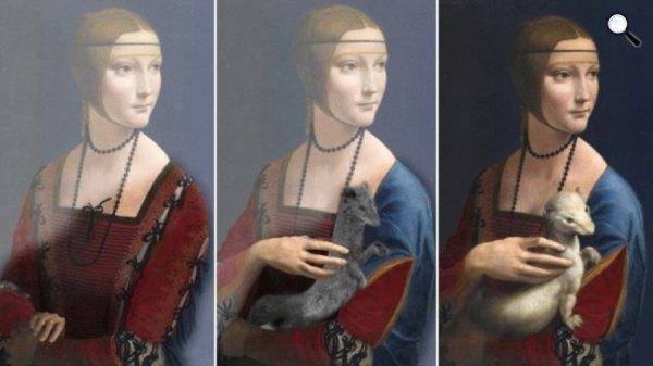 Leonardo da Vinci: Hölgy hermelinnel - 3 változata (Fotó: BBC)