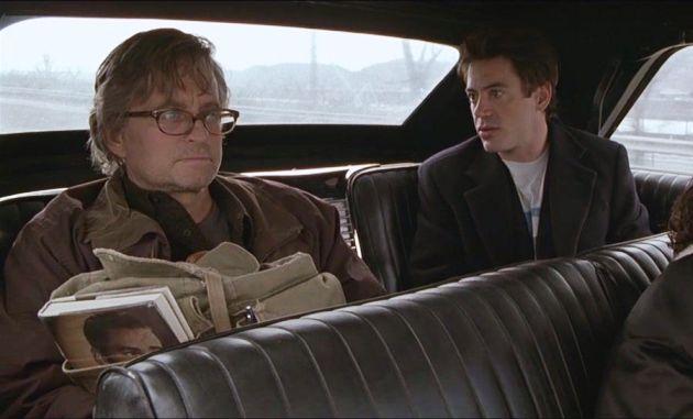 Wonder Boys - Pokoli hétvége, Michael Douglas, Robert Downey Jr. 2000 (Fotó: Budapest Film)