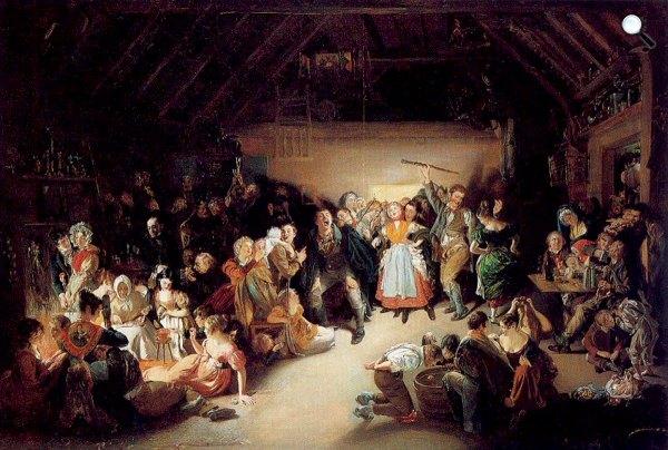 Daniel Maclise: Snap-Apple Night, 1833