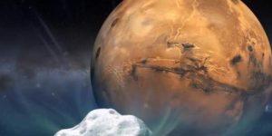 A kométa haladása a Mars felé (Fotó:NASA)