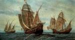 Kolumbusz Kristóf (Cristoforo Colombo) hajói (Fotó: Wikipédia)