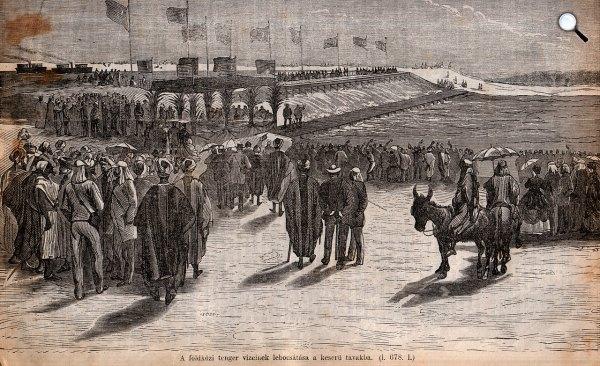 A Szuezi Csatorna átadása, 1869 (Fotó:  Képes Világ/Wikipédia)