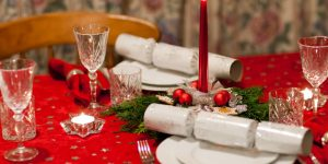 Karácsony, asztal, dísz