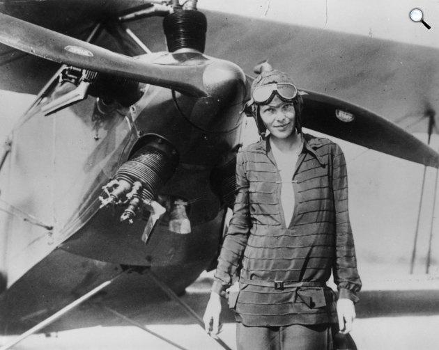 Amelia Earhart pilótanő (Fotó: Ameliaearhartproject.com)