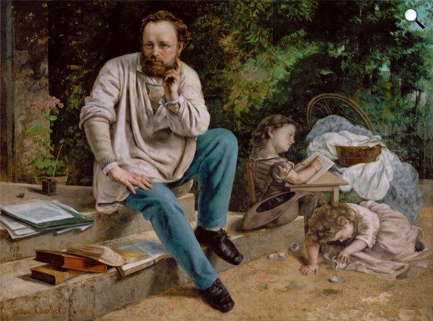 Gustave Courbet: Pierre Joseph Proudhon és gyermekei 1853-ban, 1865 (Fotó: Wikimédia)