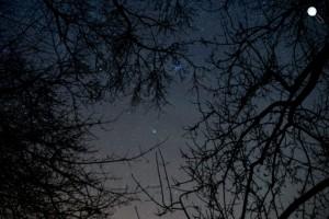 A C/2014 Q2 (Lovejoy) üstökös Salgótarján közeléből fotózva 2015. január 13-án este. (MTI F