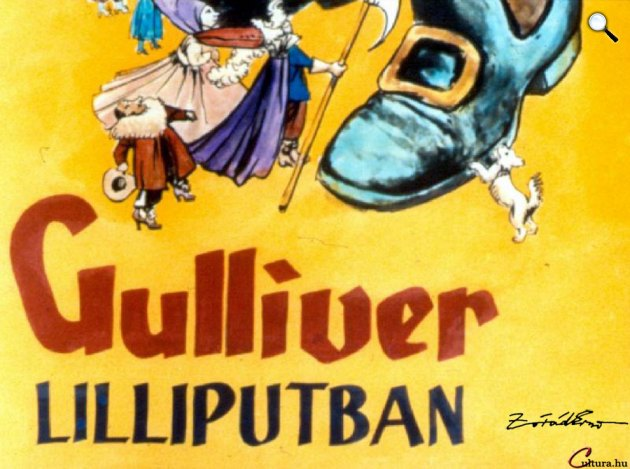 Zórád Ernő - Jonathan Swift: Gulliver Lilliputban (Fotó: zoraderno.hu)