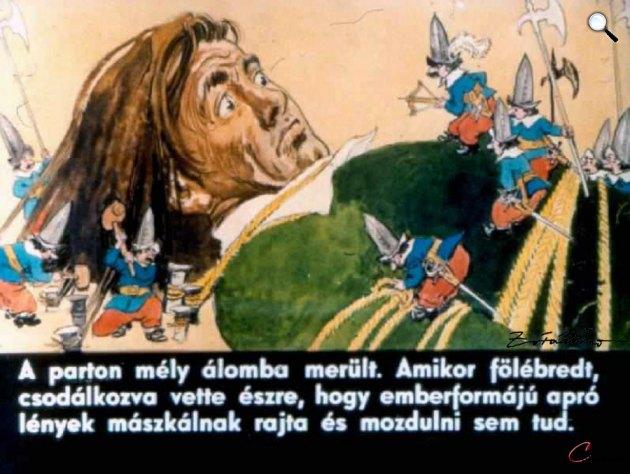 Zórád Ernő - Jonathan Swift: Gulliver Lilliputban 06 (Fotó: zoraderno.hu)