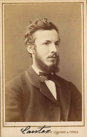 Georg Cantor matematikus, 1870 körül (Fotó: Wikipédia)
