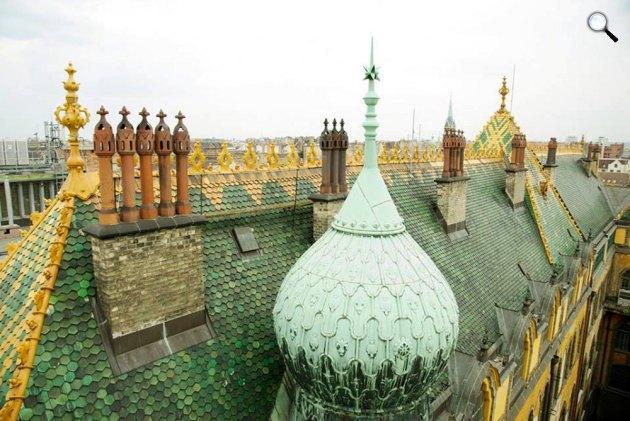 Lechner Ödön, Zsolnay Vilmos: Iparművészeti Múzeum tető, Budapest (Fotó: Iparművészeti Múzeum)