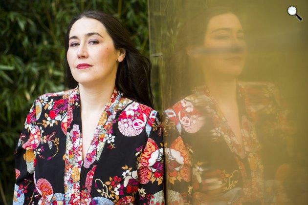 Szabó T. Anna Kyoko József Attila-díjas író, költő 2015-ben (MTI Fotó: Balogh Zoltán)