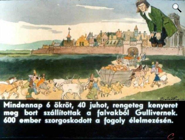 Zórád Ernő - Jonathan Swift: Gulliver Lilliputban 14 (Fotó: zoraderno.hu)