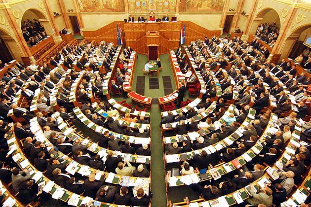 Országgyűlés, ülésterem (MTI Fotó)