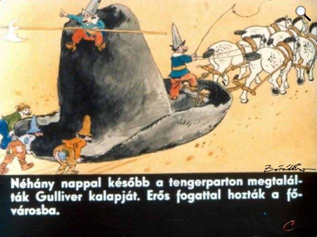 Zórád Ernő - Jonathan Swift: Gulliver Lilliputban  23. (Fotó: zoraderno.hu)