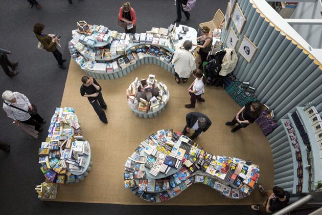 XXI. Budapesti Nemzetközi Könyvfesztivál megnyitóján a budapesti Millenárison 2014. április 24-én. (MTI Fotó: Mohai Balázs)