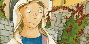 Casciai Szent Rita, a reménytelen ügyek védőszentje, könyvillusztráció