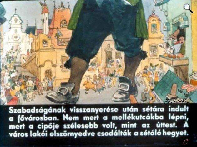 Zórád Ernő - Jonathan Swift: Gulliver Lilliputban 27. (Fotó: zoraderno.hu)