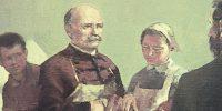 Túry Mária: Semmelweis, 1953 (Fotó: pinteraukcioshaz.hu/A nagy kép a szegedi Egyetem (SOTE) tulajdona)