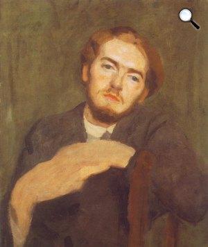Ferenczy Károly: Ferenczy Béni portréja, 1912 (Fotó: Wikiart)