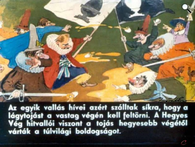 Zórád Ernő - Jonathan Swift: Gulliver Lilliputban 34. (Fotó: zoraderno.hu)